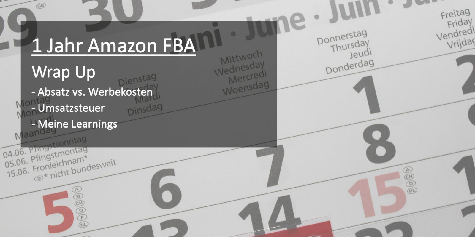 1 Jahr Amazon FBA