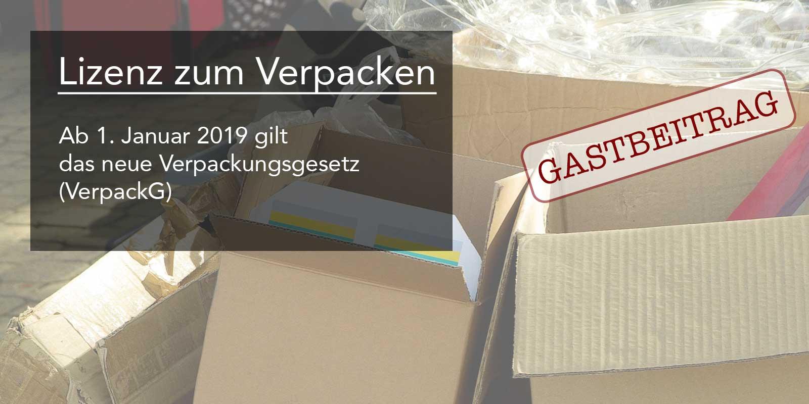 VerpackG, Verpackungsgesetz