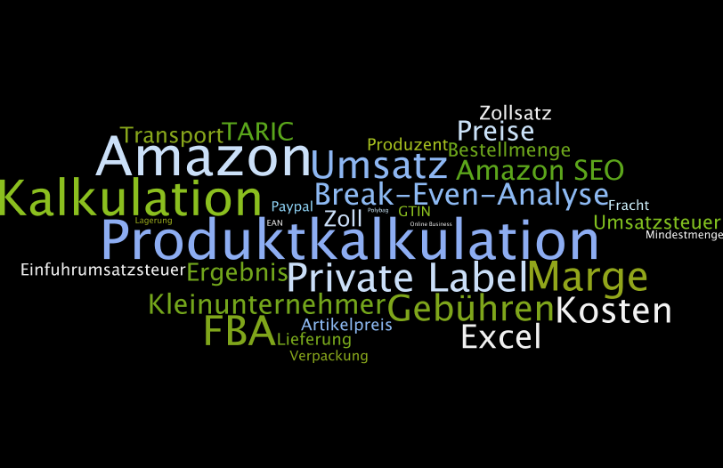 Wordle zu Amazon FBA Produktkalkulator